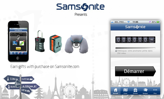 Samsonite lance l'application Travel Miles